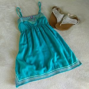 Twenty one teal blue camisole with embroidery S